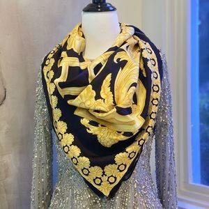 Versace Silk Baroque Scarf